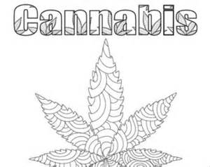cannabis coloring book cannabis etsy