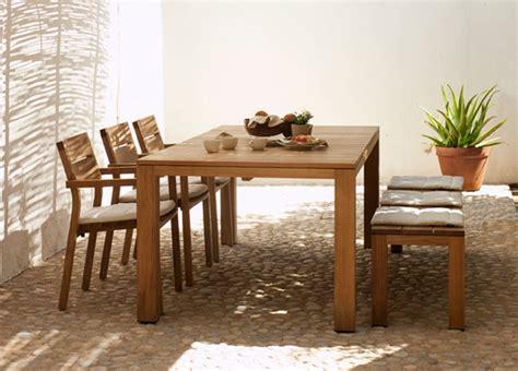 Tribu Kos by Tribu Kos Teak Garden Dining Table Tribu Garden Furniture