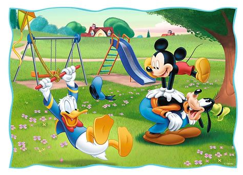 Puzzle Mickey Mouse 4 jigsaw puzzles mickey mouse friends trefl 34261 35 pieces jigsaw puzzles mickey and
