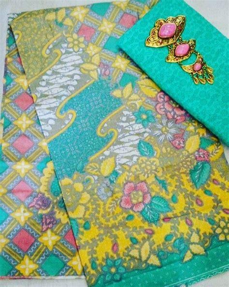 1 Set Kain Batik Print Prada Dan Embos 2 kain batik soft kombinasi kain embos 5 warna ka2 18