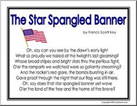 printable lyrics to the national anthem usa 1000 images about celebrating star spangled banner day on