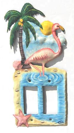 flamingo light switch and outlet switchplate cover tropical flamingo rocker light switch