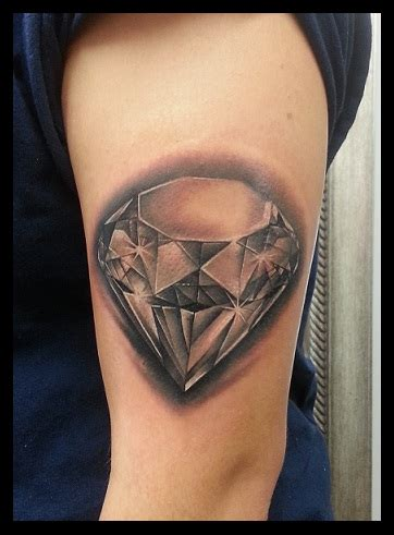 tattoo diamond black and grey trueartists peter lamos