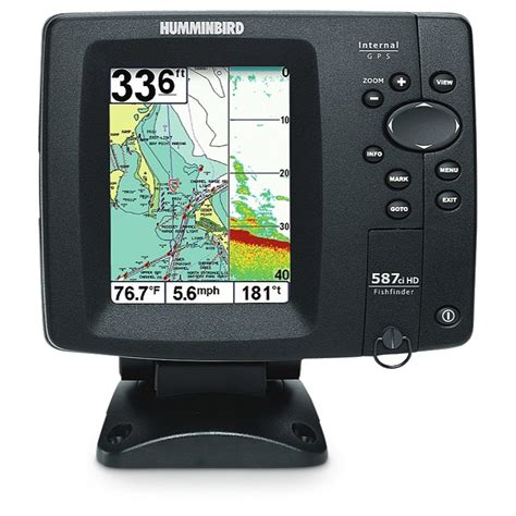 humminbird 174 587ci hd fishfinder gps combo 180084 gps