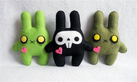 zombie bunny tutorial 27 best sewing ferocious felt monsters images on