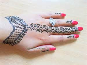 simple henna mehendi designs step by step tutorial