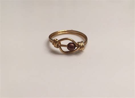 worry ring with 1 bead spinner ring worry ring anxiety ring stress ring