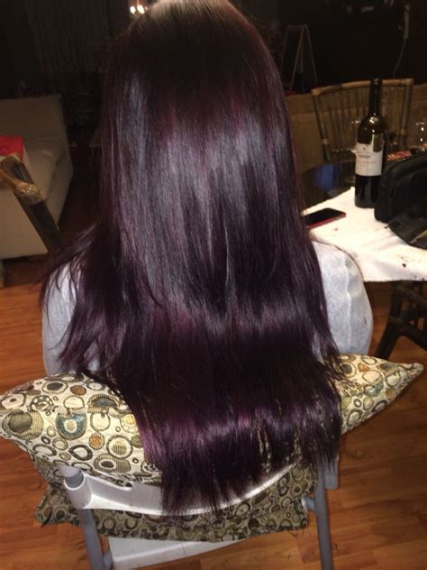 chocolate plum hair color 1000 ideas about purple tinted hair on pinterest violet