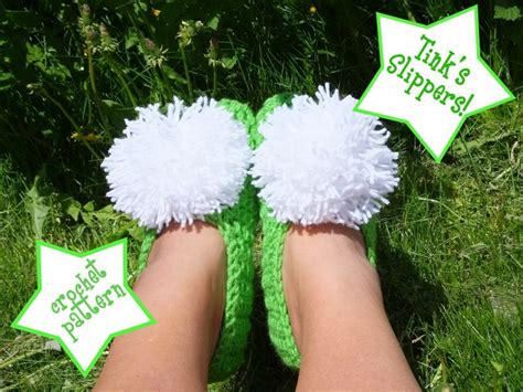 tinkerbell slippers for adults don t eat the paste tink slippers crochet pattern