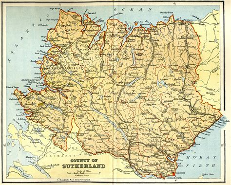 Scotlands Free Search Map Of Sutherland Scotland My