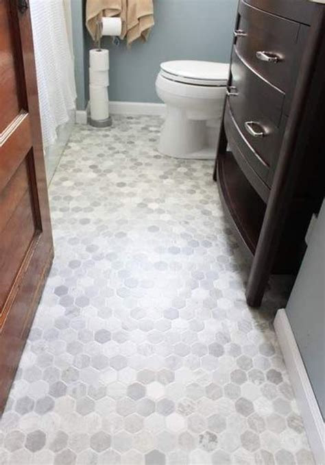 Hexagon Tile Bathroom Floor by 40 Gray Hexagon Bathroom Tile Ideas And Pictures