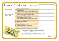 film quiz cryptic clues cryptic 90s movies