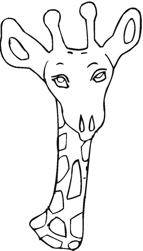 giraffe head coloring pages free giraffe coloring pages