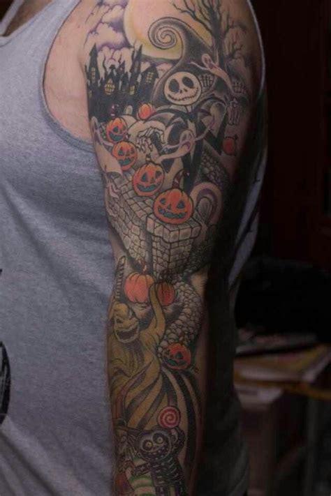 nightmare before christmas tattoo sleeve nightmare before sleeve ideas