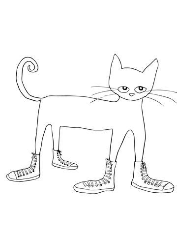 disegno  rocco il gatto adora le sue scarpe da colorare