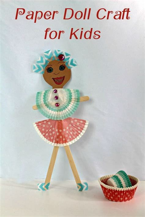 How To Make Paper Plate Doll - diy paper doll craft for crafts paper and kid