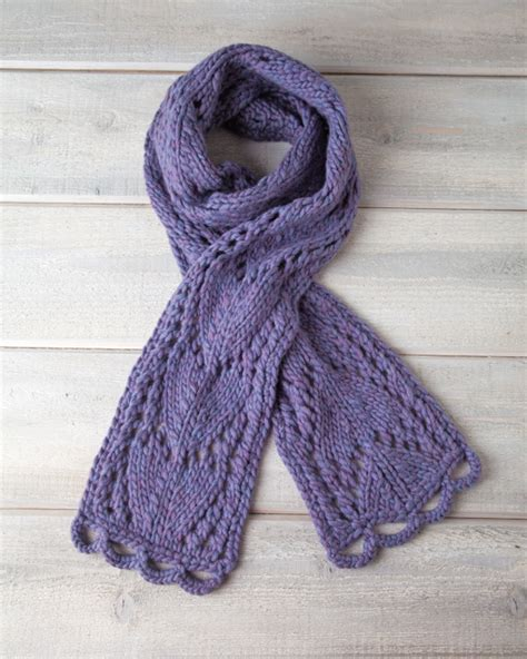 allfree knitting arrowhead lace scarf allfreeknitting
