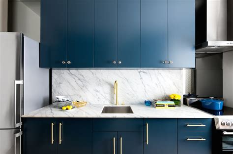 Dark Blue Kitchen by Navy Cabinets Contemporary Kitchen Benjamin Moore