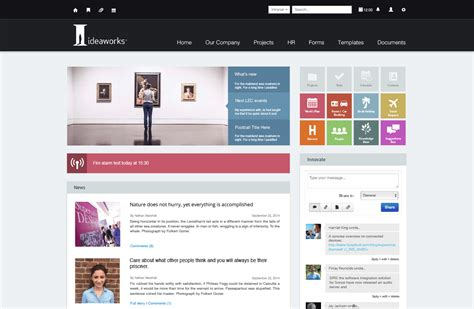 custom intranet exles claromentis