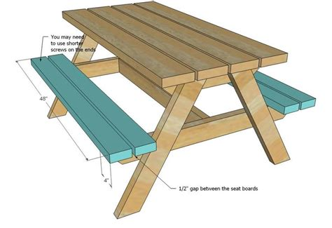 kids picnic bench plans 21 things you can build with 2x4s picnic tables ana