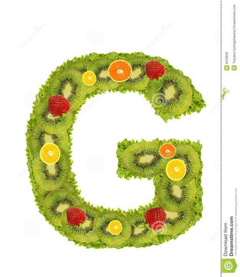 g fruit alfabet fruit g stock illustratie illustratie
