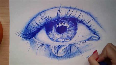 dibujos realistas boligrafo speed drawing ojo realista a bol 237 grafo youtube