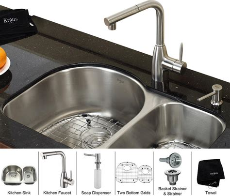 double bowl kitchen sink for 30 inch cabinet kraus 30 inch undermount double bowl stainless steel