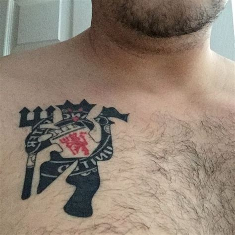 tattoo equipment manchester the manutd crest and devil entwined nice ink from josh