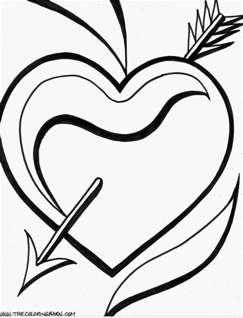 free broken heart s coloring pages