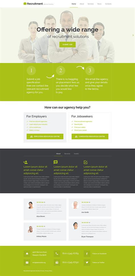 Job Portal Responsive Website Template 57619 By Wt | job portal responsive website template 57619 by wt