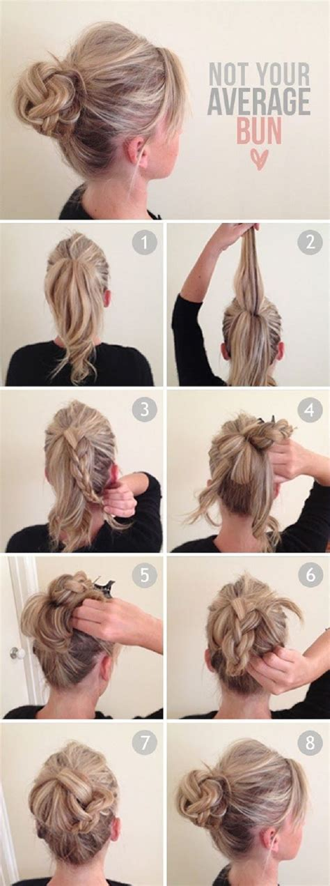Hairstyles Buns Tutorials | 14 amazing double braid bun hairstyles pretty designs