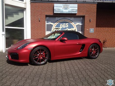 Hexis Folie Chrom by Vollfolierung Porsche Boxster Gts Dgs Wrapping