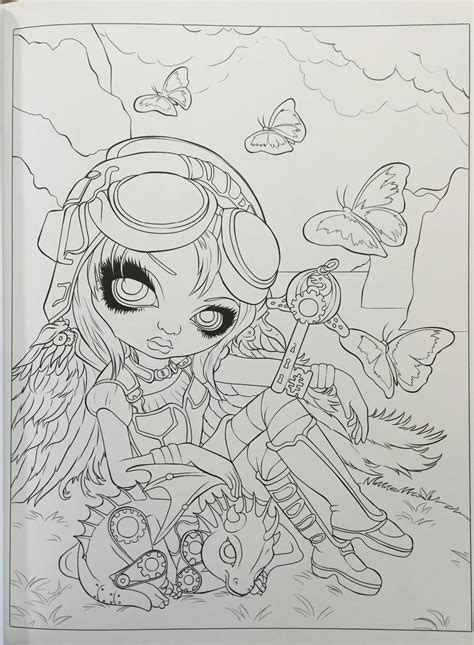 amazon com jasmine becket griffith coloring book a fantasy art adventure 9780738750019