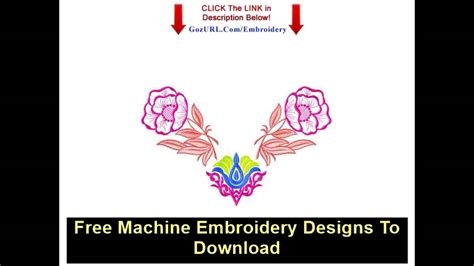 embroidery design youtube free machine embroidery designs to download youtube