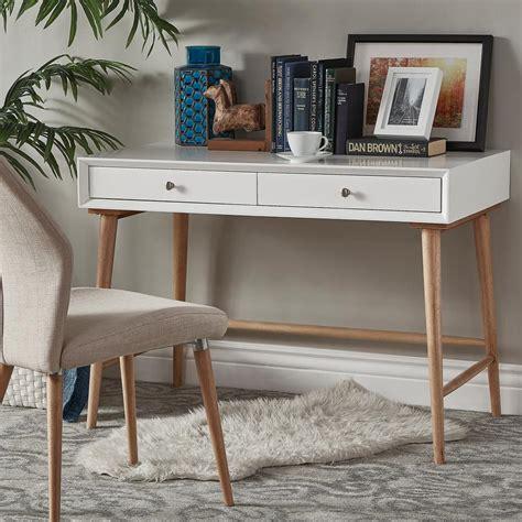 white mid century desk homesullivan wyatt mid century white writing desk 40e333