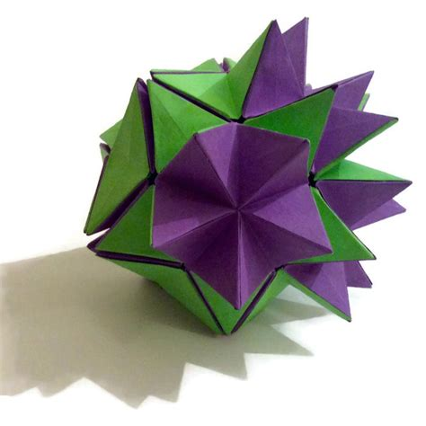 Revealed Flower Origami - origami gallery artful maths