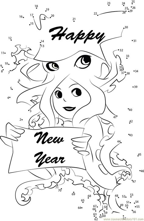 new year join the dots happy new year wishes dot to dot printable worksheet