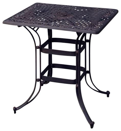 Rectangular Bistro Table Home Styles Biscayne Rectangular Outdoor Bistro Table In Black Transitional Bistro Tables