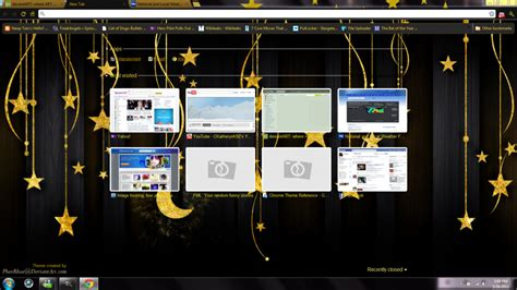 google chrome themes my photo my starry google chrome theme by pheorhae on deviantart