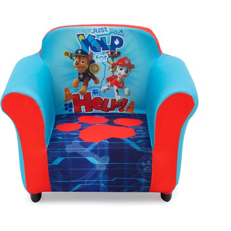 nick jr paw patrol kids upholstered chair  sculpted