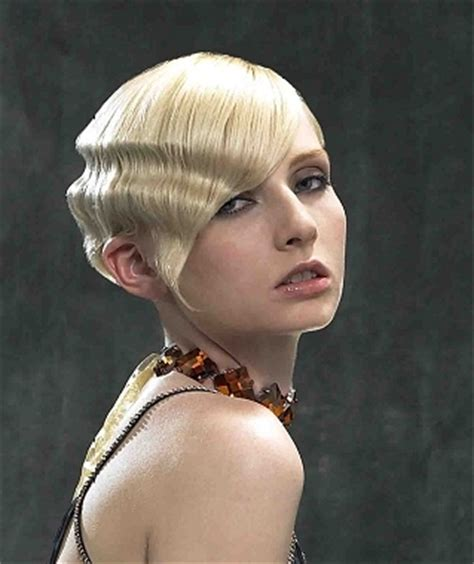 Flapper Hairstyle Gel Hair by 20s Flapper Hairstyles With Finger Waves