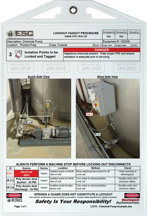 lockout tagout before it s too late poster