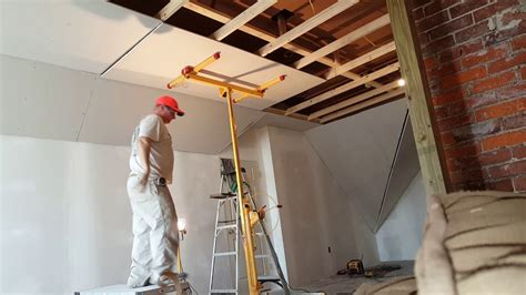 How To Hang A 9ft Drywall Ceiling By Yourself By The Hang Drywall Ceiling