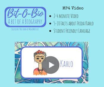 frida kahlo biography powerpoint bit o bio frida kahlo by minimatisse teachers pay teachers