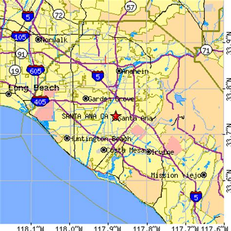 round santa ana ca map of california santa ana california pictures to pin on
