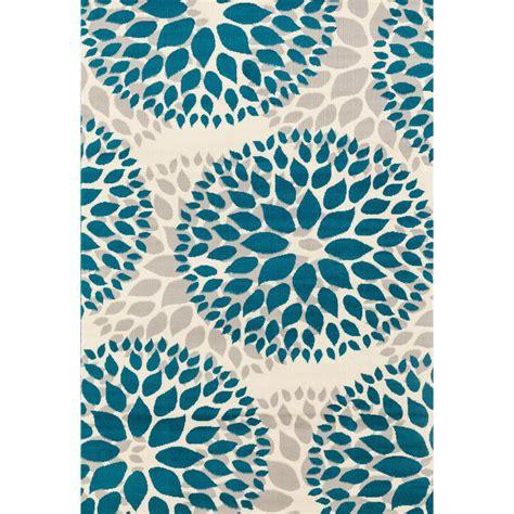 world rug gallery modern floral design blue 5 ft x 7 ft