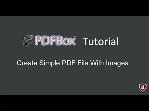 tutorial java creator pdfbox tutorial 4 create simple pdf file with image in