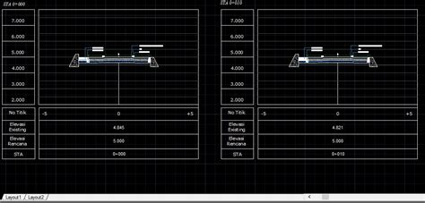 auto cad gambar cross section  long section dwg file