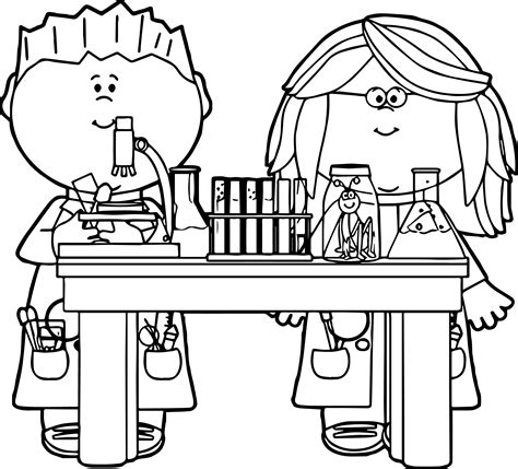 coloring pages for art class kids in science class clip art kids in science class