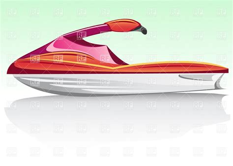 water scooter license red water scooter side view vector image vector